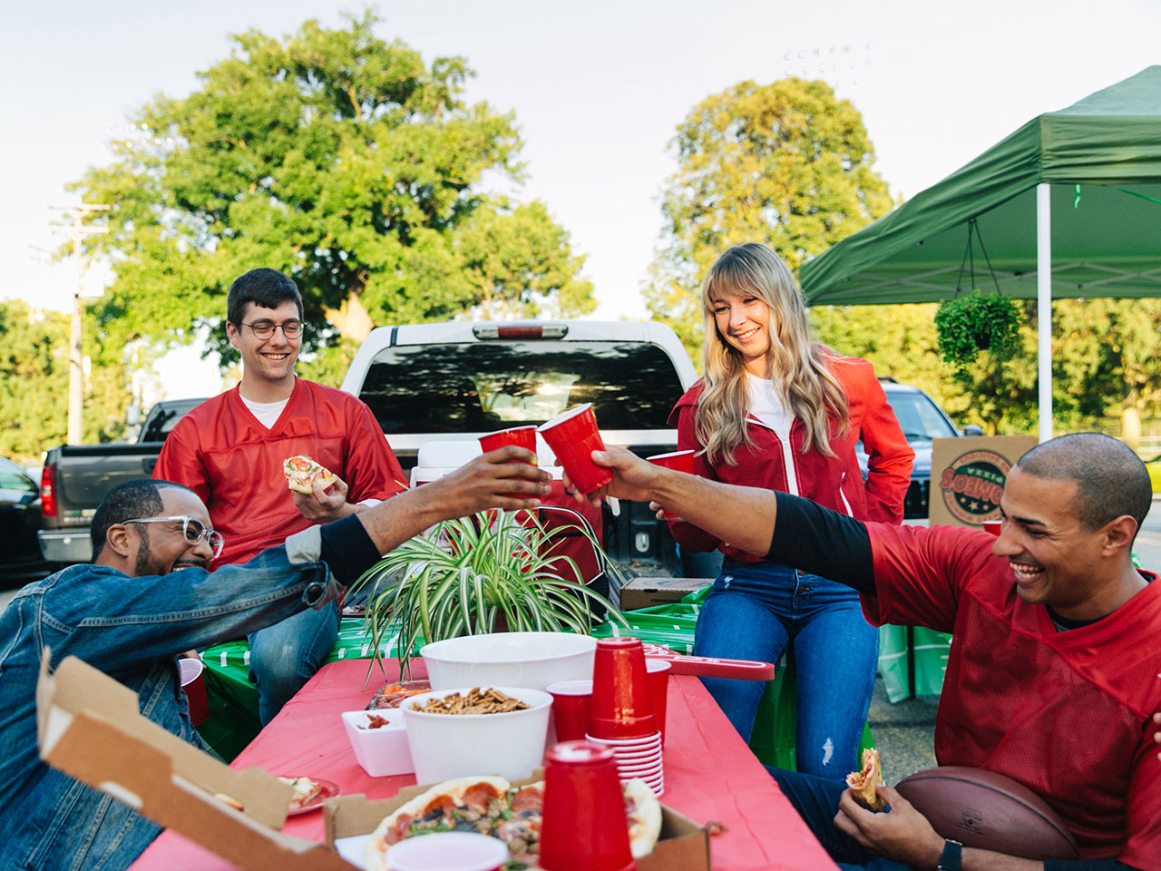 Romeo's Pizza tailgate photoshoot 2