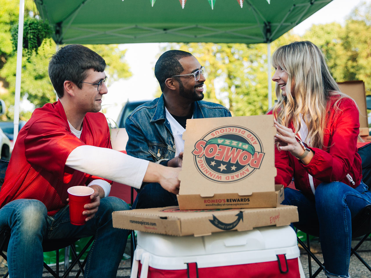 Romeo's Pizza tailgate photoshoot 3