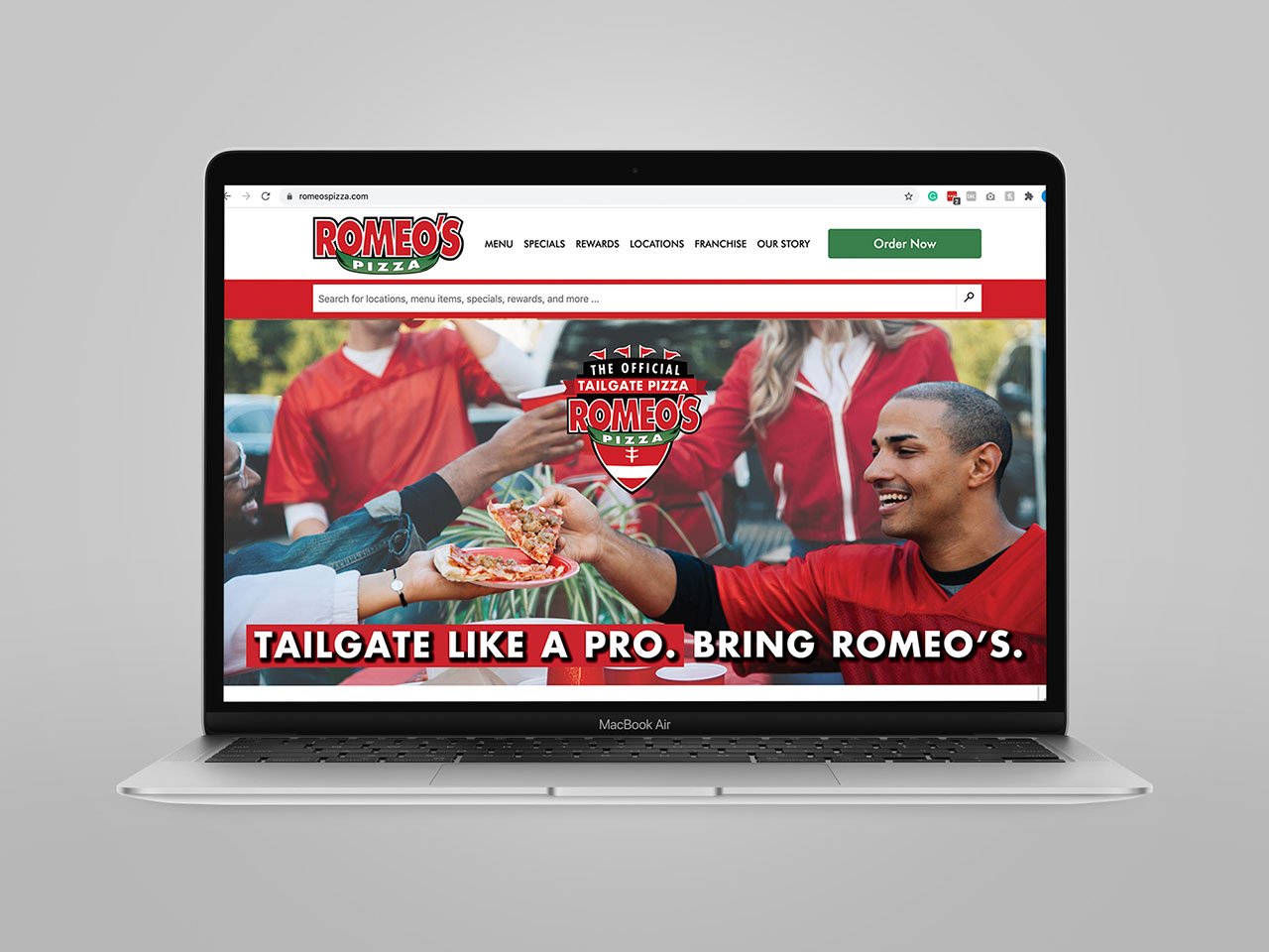 Romeo's Pizza website slide 1